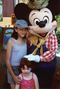 girls with Mickey Mouse