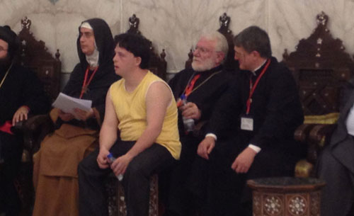 with Mother Agnes at the Umayyad mosqe