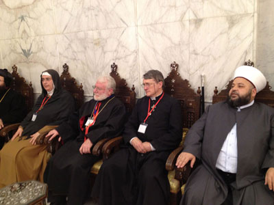 Praying together for peace at the Umayyad mosque