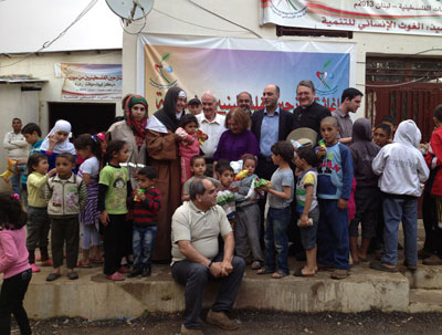 Our team visits Baalbek refugee camp in Lebanon before crossing the border into Syria