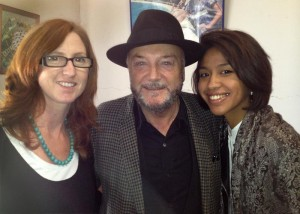 Ange with George Galloway and Gayatri