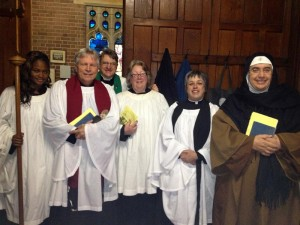2013 - Mother Anges joins us for worship at Holy Trinity
