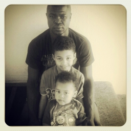 Solomon with his two boys