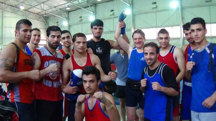training with the Syrian national boxing team