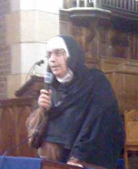 Mother Agnes speaking at Holy Trinity