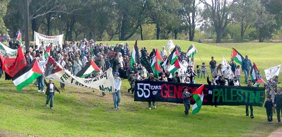marching in support of the people of Gaza