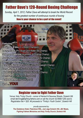 Father Dave's 120-round boxing challenge
