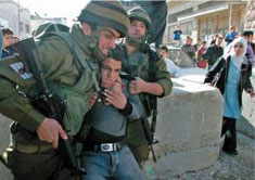 IDF soldiers arresting a boy in Hebron