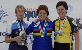 Tanya (centre) takes the gold