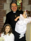 Baptising two special girls